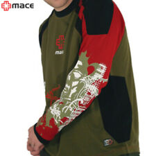 MACE Powder Jersey Long Sleeve (Medium) MTB/Casual Tee - Olive/Red
