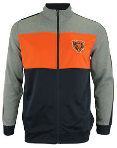 OuterStuff NFL Youth Boys Performance Full Zip Stripe Jacket , Chicago Bears