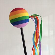 Rainbow Ball Colored Ribbon Antenna Balls Car Aerial Ball Antenna Topper & Decor