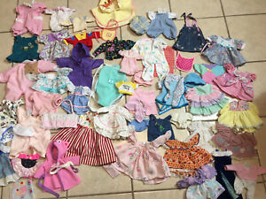Huge lot 50+ Doll Clothes Vintage and Modern Lot Butterflies Sz Med Dress Shirts