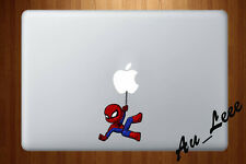 Macbook Air Pro Vinyl Skin Sticker Decal Cartoon Spider Super Hero Web CMAC258