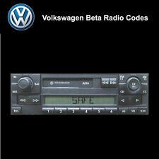 Volkswagen Beta Radio Code Unlock Stereo Codes PIN | RCD 310 300 200 210 215