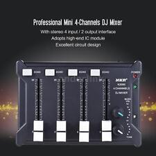 Professional 4-Channel mono Stereo Audio DJ Sound Mixer USB Powered Black Z8C2