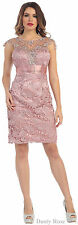 SHORT MOTHER of THE BRIDE GROOM SPECIAL OCCASION CHURCH SEMI FORMAL PARTY DRESS