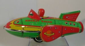 2001 Schylling *Rocket Racer* collector series Friction power Tin toy in Box