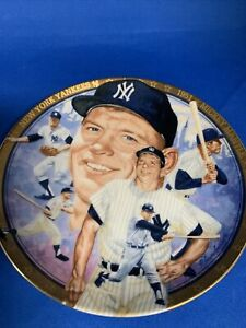 THE LEGENDARY MICKEY MANTLE PLATE~BEST OF BASEBALL~ HAMILTON COLLECTION
