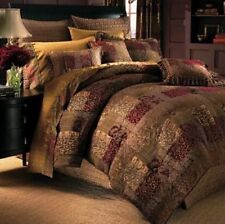Croscill Comforter Set Galleria 4pc Queen Brown Red Shams Bed Skirt