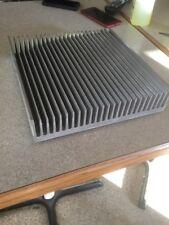 Used large finned aluminum heat sink-- measure 11-1/4X11-13/16X2-1/2