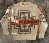 Pendleton Vintage Sweater 1970 Western Wear Virgin Wool Navajo Aztec VERY CLEAN