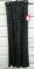 Mossimo Womens Black & Green Pallazo Print Wide Leg Loose Pants Size M Medium