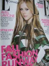 Elle Canada Avril Lavigne August 2009 Magazine