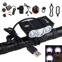 12000LM 3X XML T6 LED SolarStorm USB Cycling Front Lamp Bicycle Bike Headlights