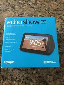 Amazon Echo Show 5 Smart Display with Alexa - Charcoal NEW