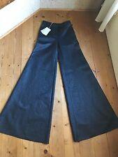 Original Emilio Pucci Schlaghose dunkelblau  silber  ital.40  Culotte sehr lang