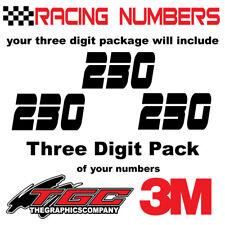 Racing Numbers Vinyl Decals Stickers boat car BMX bike off road  sprint quad EGR