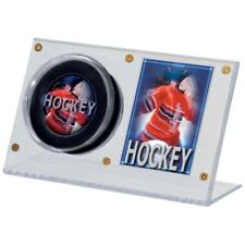 3 Ultra Pro Acrylic Puck & and Hockey Card Holder Display Case