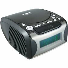 Compact & Portable Digital Tuning AM/FM Radio w/ Alarm Clock Display & CD Player