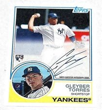 2018 Topps Series 2 Gleyber Torres 83 Topps Auto - On Card And In-Hand