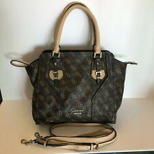 GUESS Logo Satchel Handbag Purse Removable Shoulder Bag Strap