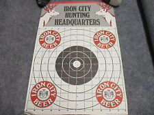 """Iron City Beer Hunting Headquarters Paper Rifle Target Vintage Nos 18"""" X 12"""""""
