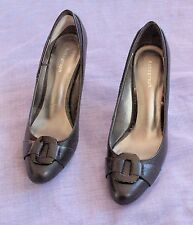 AUTOGRAPH Black High Heeled Court Shoes with Buckle - UK4.5