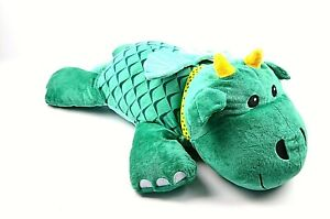 "Melissa & Doug Green Cuddle Dragon Jumbo Plush 28"" Stuffed Animal"