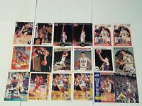 John Stockton Utah Jazz Lot of 18 Basketball Cards All-Time Assist Leader HOF!!!