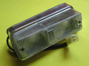 Alfa Romeo Berlina 1750, 2000, clear front turn signal light. Right side. NOS