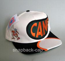 N.O.S Vintage Snapback Cap Miami Canes old school 90's VTG HAT