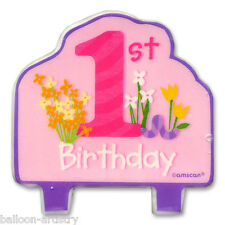 "3.5"" SPECIAL GIRL 1st Birthday FLAT Moulded Cake Candle"
