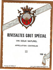 Etiquette de vin - RIVESALTES