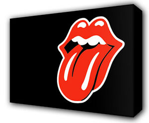 ROLLING STONES LIPS - GICLEE CANVAS ART *Choose your size