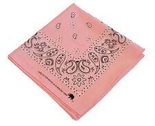 Bandana Scarf Pink Western Paisley Head Wrap Du Doo Rag Head Cover 100% Cotton