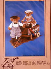 "Teddy Bear pattern 20"" stuffed toy greeter clothes"