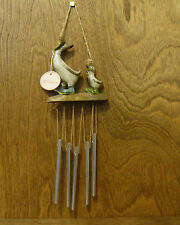"""Transpac Wood Look Ducks #D6090 Duck Wind Chime 10"""" NEW From Retail Store"""