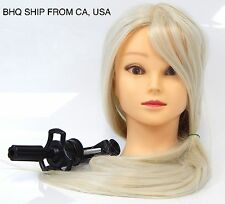 50% Real Human Hair Cosmetology Training Mannequin Head Blonde
