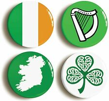 IRELAND BADGE BUTTON PIN SET (Size is 1inch/25mm diameter) ÉIRE IRISH FLAGS
