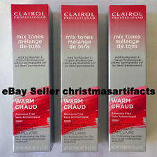 Lot of 3 Clairol Professional Warm Mix Tones Hair Color Red Copper Intensifier