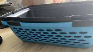 """Petmate Vari Pet Kennel Medium Blue Black  24"""" x 16"""" TSA Portable Air Cargo"""