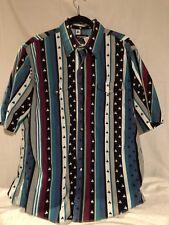 Wrangler Cowboy Cut Regular Fit Pearl Snap Rodeo Shirt Men's Size XL 17