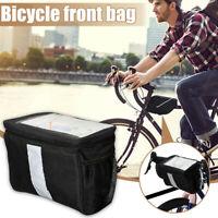 Bike Handlebar Bag Bike Basket Mesh Pocket Touchable Transparent Phone Pouch