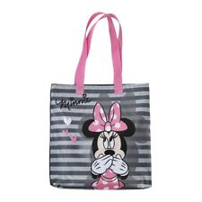 DISNEY sac shopping courses plage MINNIE gris rose 34 x 30 x 3 cm