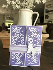Thank You Card - Handmade, Layered Paper, Quote, Butterfly, Purple