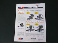 K&B MANUFACTURING INBOARD MARINE MODEL BOAT ENGINE BROCHURE *VG-COND*