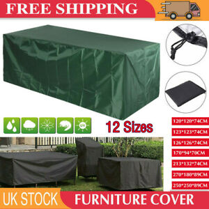 UK Waterproof Garden Patio Furniture Cover Covers Rattan Table Cube Sofa Outdoor