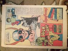 M1b ephemera 1979 advert marvel hulk instant muscles superhero puppets