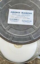 Bobine  amorce 16mm blanche triacetate