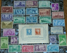 *<* Bargain Price/Free Ship! 26 Mint Nh Complete 1945/1946/1947 Us Commem Stamps
