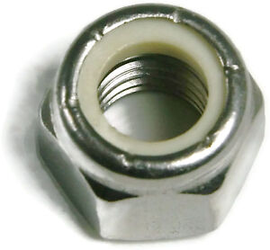 Stainless Steel Nylon Insert Lock Hex Nut UNF #4-48, Qty 250