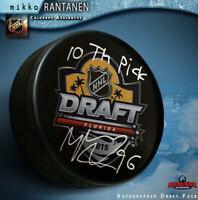 "MIKKO RANTANEN Signed NHL Draft Puck ""10th Pick""  - Colorado Avalanche"